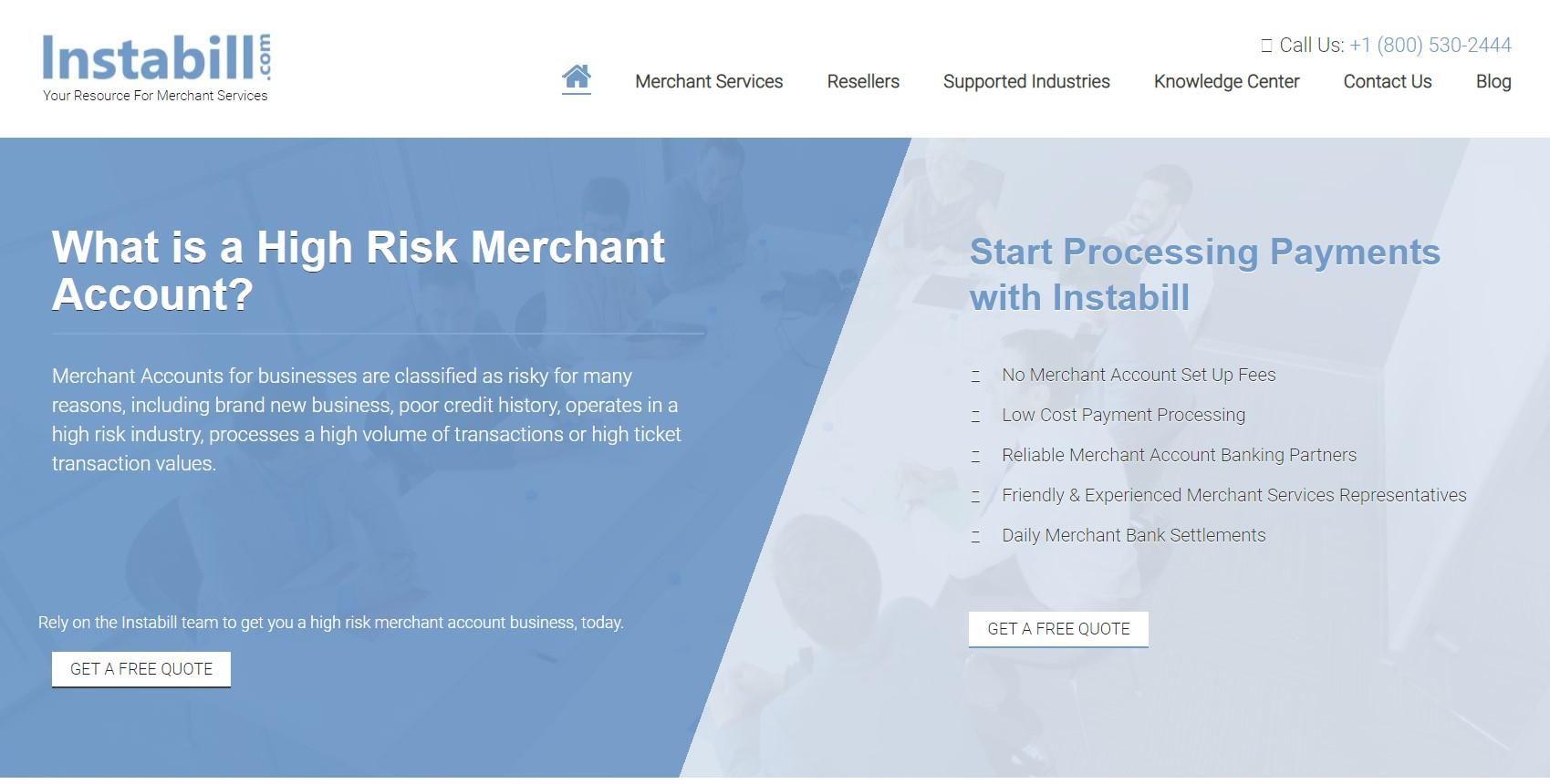 Instabill - High Risk Merchant Account provider