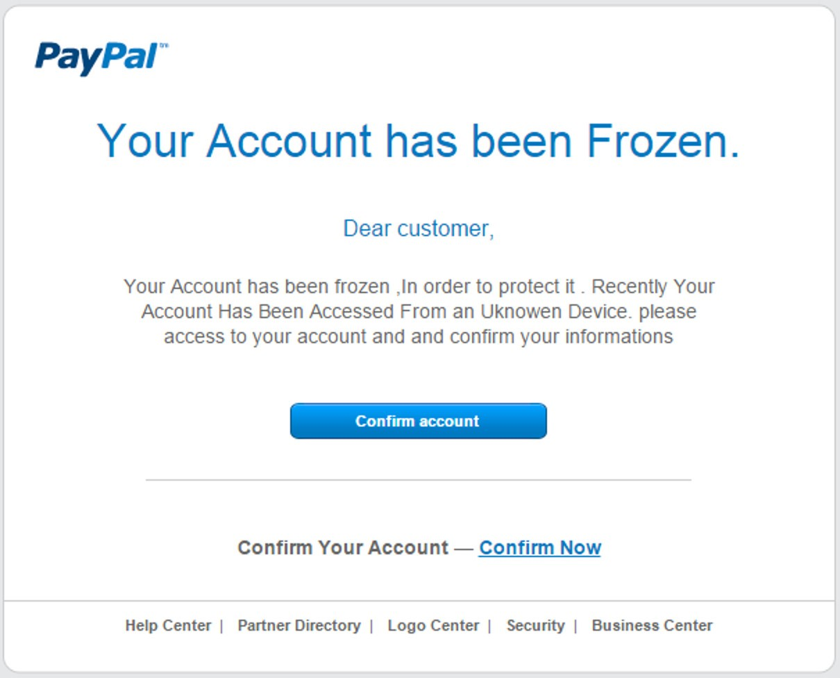 PayPal Frozen Account!